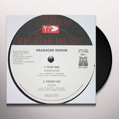 Christopher THAT WAY - HEADACHE RIDDIM VERSION Vinyl Record