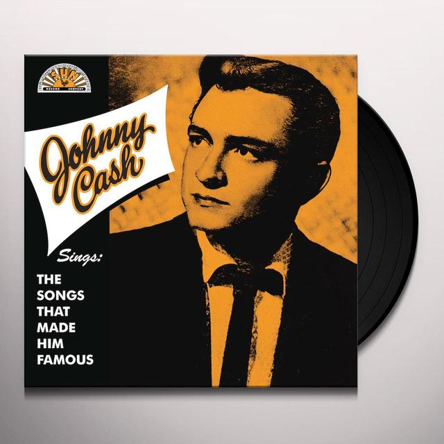 Johnny Cash SINGS THE SONGS THAT MADE HIM FAMOUS Vinyl Record