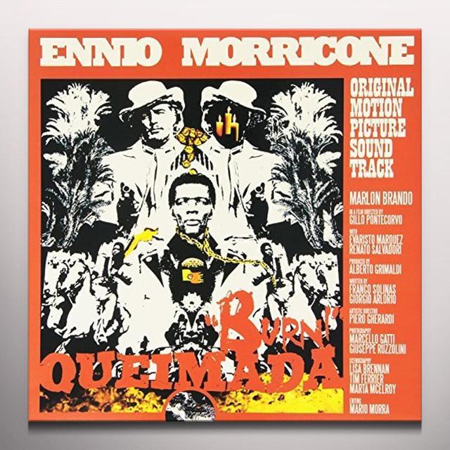 Ennio Morricone QUEIMADA / O.S.T. Vinyl Record - Clear Vinyl, Limited Edition, Orange Vinyl