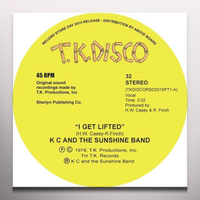 K.C. & SUNSHINE BAND I GET LIFTED (TODD TERJE EDIT) Vinyl Record - 10 Inch Single, Colored Vinyl, Yellow Vinyl