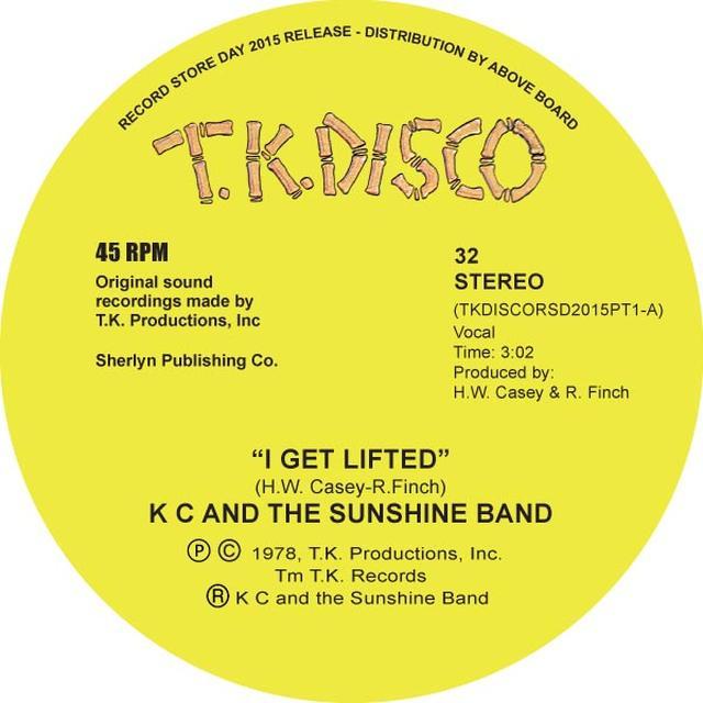 K.C. & SUNSHINE BAND I GET LIFTED (TODD TERJE EDIT) Vinyl Record