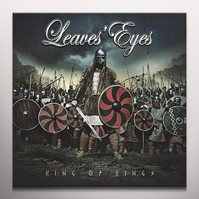 Leaves' Eyes KING OF KINGS Vinyl Record - Colored Vinyl, Gatefold Sleeve, Red Vinyl