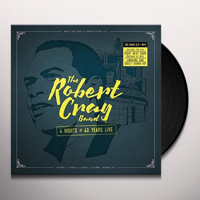 Robert Cray 4 NIGHTS OF 40 YEARS LIVE Vinyl Record - 180 Gram Pressing, Digital Download Included