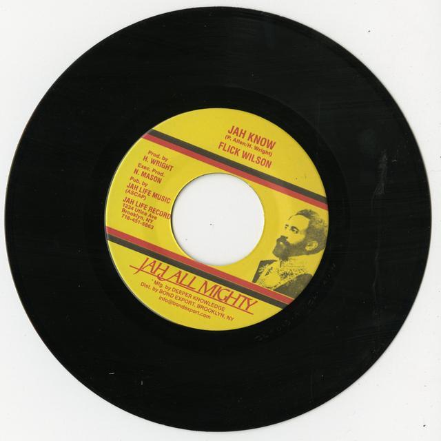 Flick Wilson JAH KNOW Vinyl Record