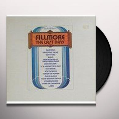 FILLMORE THE LAST DAYS / VARIOUS (ITA) FILLMORE THE LAST DAYS / VARIOUS Vinyl Record