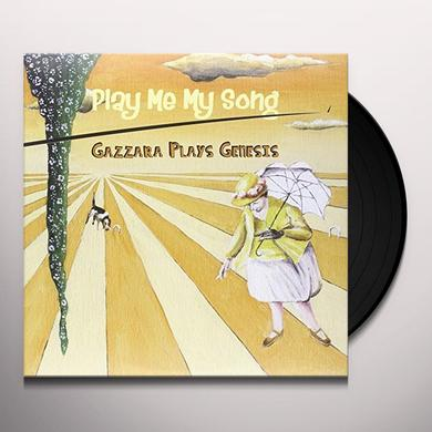 GAZZARA PLAYS GENESIS PLAY ME MY SONG Vinyl Record - Italy Import