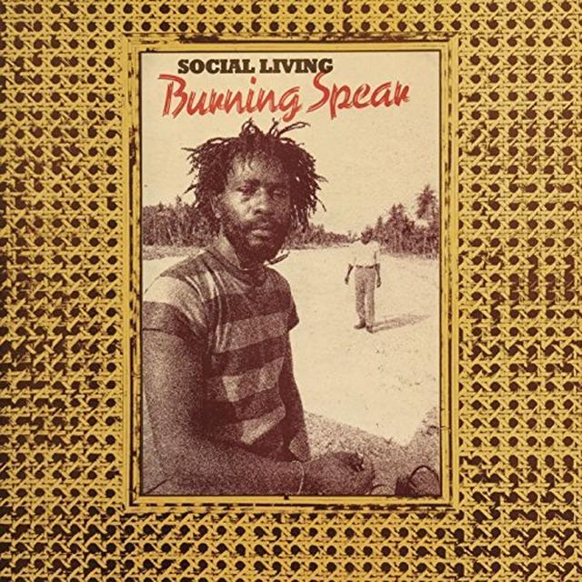 Burning Spear SOCIAL LIVING/LIVING DUB Vinyl Record - UK Import