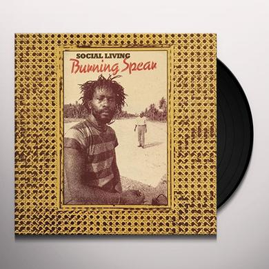 Burning Spear SOCIAL LIVING/LIVING DUB Vinyl Record