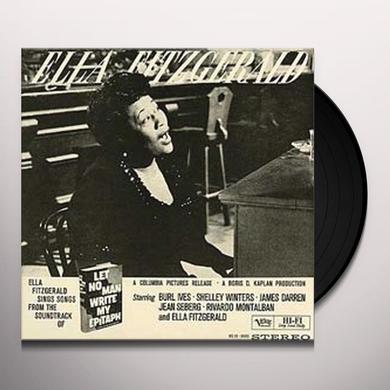 Ella Fitzgerald LET NO MAN WRITE MY EPITAPH Vinyl Record