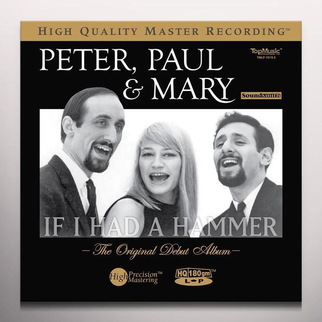 Peter Paul & Mary IF I HAD A HAMMER: ORIGINAL DEBUT ALBUM Vinyl Record - Colored Vinyl