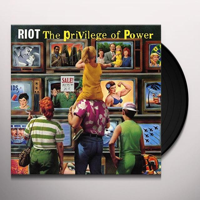 Riot PRIVILEGE OF POWER Vinyl Record - UK Import