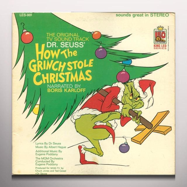 HOW THE GRINCH STOLE CHRISTMAS / O.S.T. Vinyl Record - Colored Vinyl