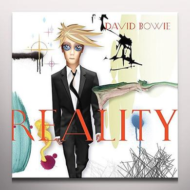 David Bowie REALITY Vinyl Record - Clear Vinyl, Limited Edition, 180 Gram Pressing