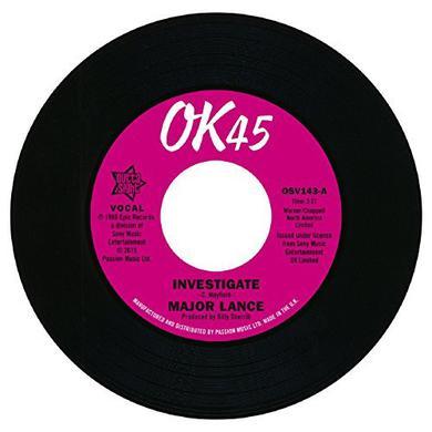 Major Lance INVESTIGATE / IT'S THE BEAT Vinyl Record