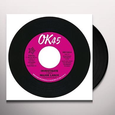 Major Lance INVESTIGATE / IT'S THE BEAT Vinyl Record - UK Import