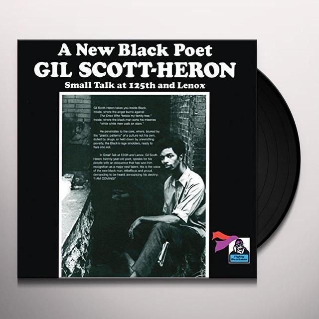 Gil Scott-Heron SMALL TALK AT 125TH & LENOX Vinyl Record - UK Import
