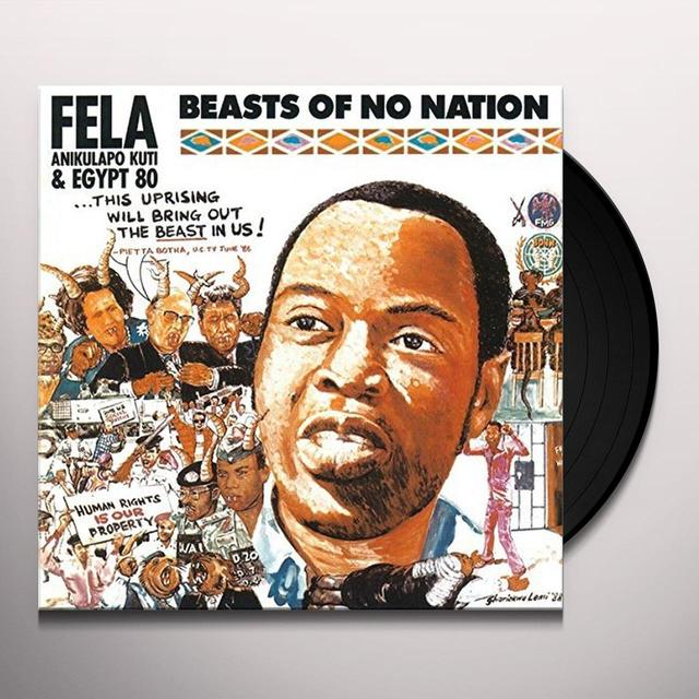Fela Kuti BEASTS OF NO NATION Vinyl Record - UK Release