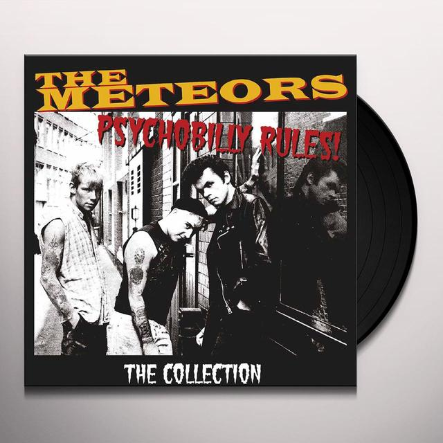 The Meteors PSYCHOBILLY RULES / COLLECTION Vinyl Record - Gatefold Sleeve