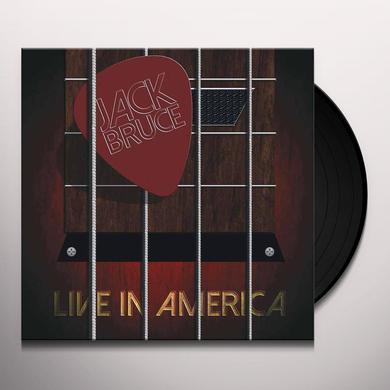 Jack Bruce LIVE IN AMERICA Vinyl Record - Gatefold Sleeve