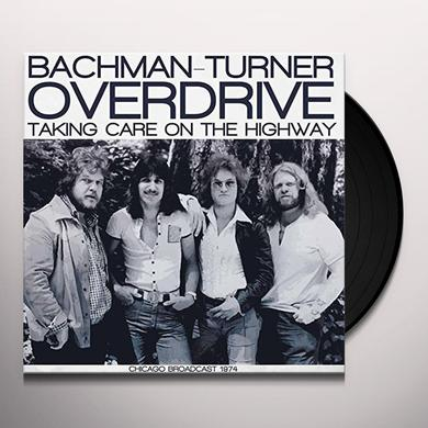 BACKMAN-TURNER OVERDRIVE TAKING CARE ON THE HIGHWAY Vinyl Record - Gatefold Sleeve