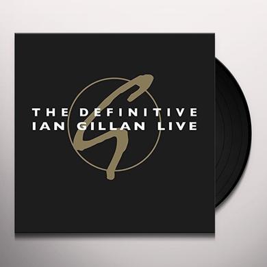 DEFINITIVE IAN GILLAN LIVE Vinyl Record - Gatefold Sleeve