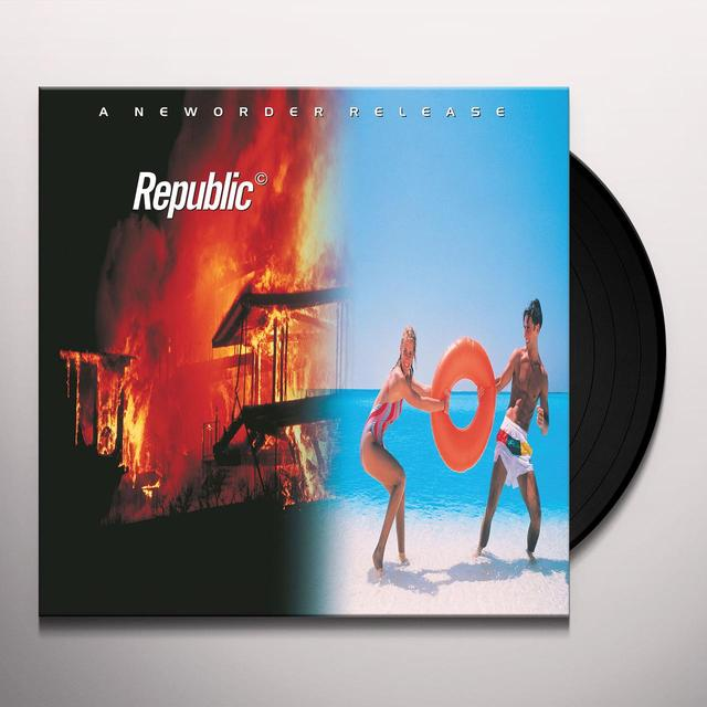 New Order REPUBLIC Vinyl Record - 180 Gram Pressing, Remastered