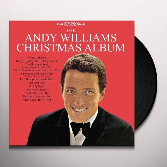 ANDY WILLIAMS CHRISTMAS ALBUM Vinyl Record - Gatefold Sleeve, Limited Edition, 180 Gram Pressing
