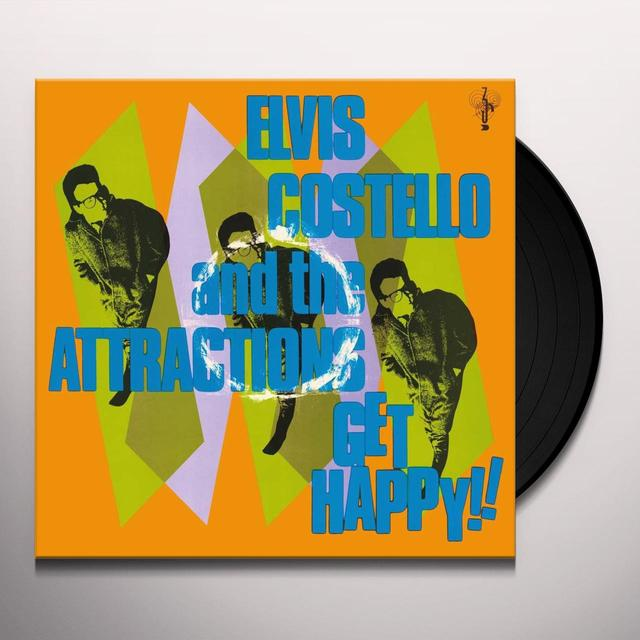 Elvis Costello GET HAPPY Vinyl Record - UK Release
