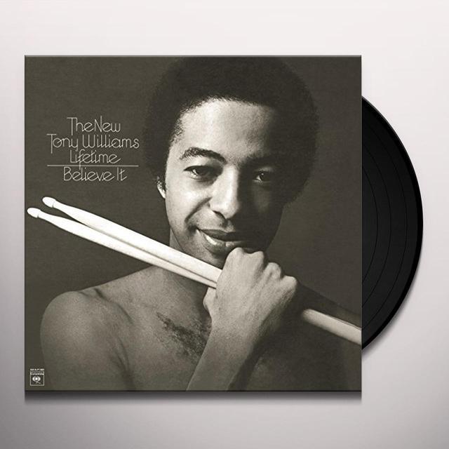 Tony Williams BELIEVE IT Vinyl Record - Portugal Import