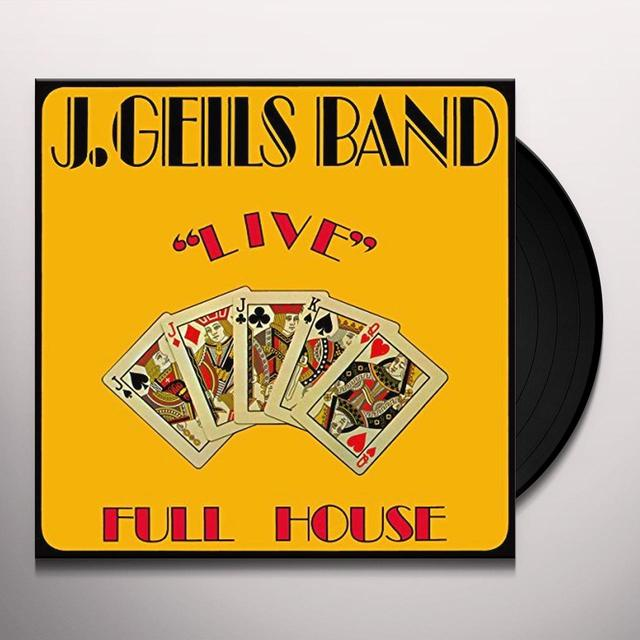 The J. Geils Band LIVE FULL HOUSE Vinyl Record - 180 Gram Pressing, Holland Import