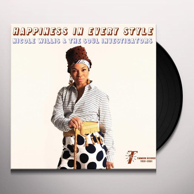 Nicole Willis & the Soul Investigators HAPPINESS IN EVERY STYLE (BONUS TRACK) Vinyl Record