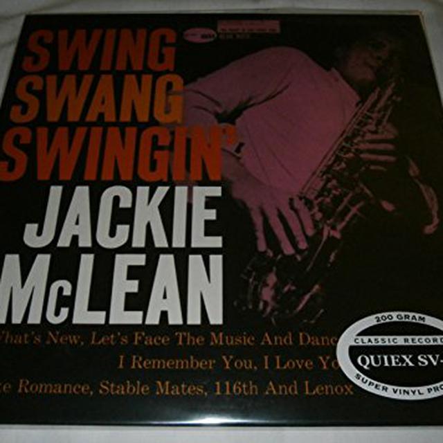 Jackie Mclean SWING SWANG SWINGIN Vinyl Record