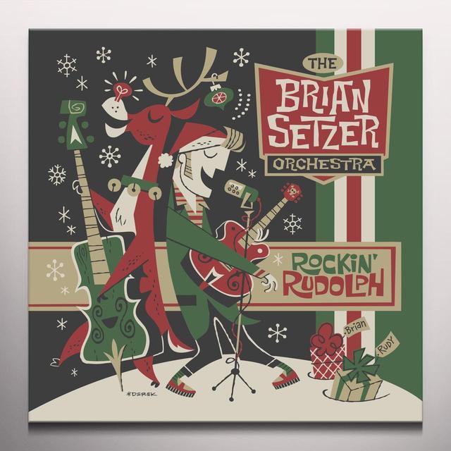 Brian Setzer ROCKIN RUDOLPH Vinyl Record - Colored Vinyl, Green Vinyl, Digital Download Included