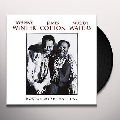 Johnny Winter / James Cotton / Muddy Waters BOSTON MUSIC HALL 1977 Vinyl Record