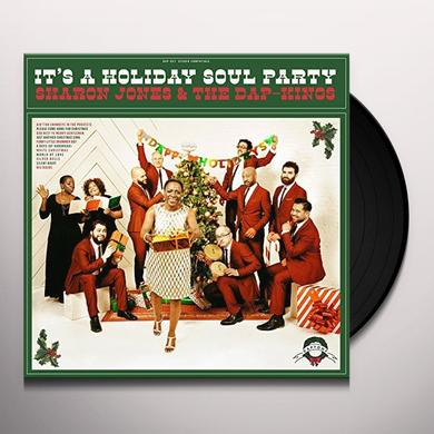 Sharon Jones & The Dap-Kings IT'S A HOLIDAY SOUL PARTY Vinyl Record - Colored Vinyl, Green Vinyl, Digital Download Included