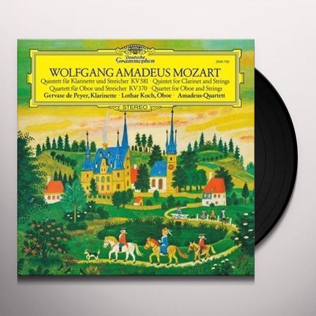 MOZART / DE PEYER / KOCH / AMADEUS QUARTET CLARINET QUINTET OBOE QUARTET Vinyl Record - 180 Gram Pressing