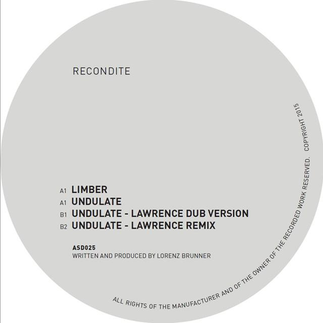 Recondite LIMBER / UNDULATE - LAWRENCE MIXES Vinyl Record