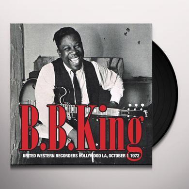 B.B. King UNITED WESTERN RECORDERS HOLLYWOOD LA OCTOBER 1 Vinyl Record