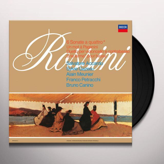 Salvatore Accardo / Sylvie Cazeau ROSSINI: 6 SONATE A QUATTRO (HK) Vinyl Record