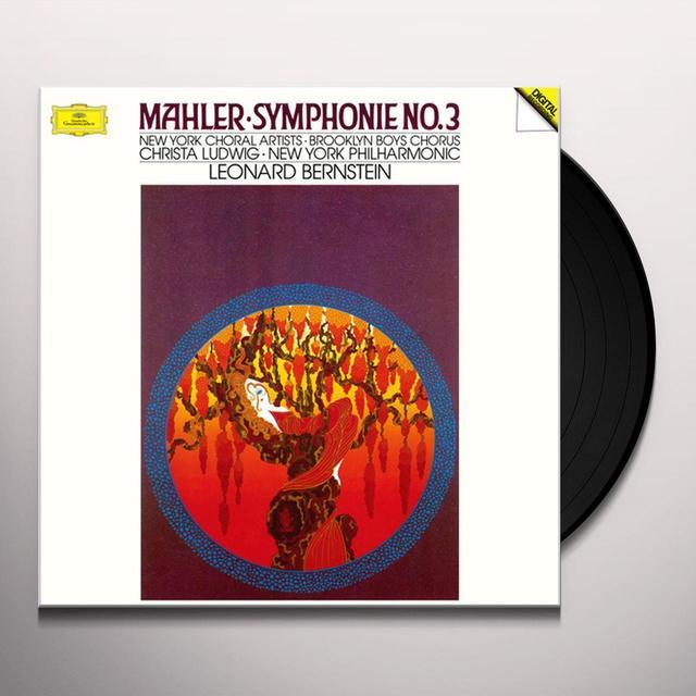 New York Philharmonic;Leonard Bernstein MAHLER: SYMPHONIE NO. 3 Vinyl Record