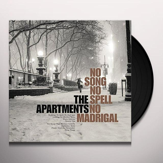 The Apartments NO SONG NO SPELL NO MADRIGAL Vinyl Record