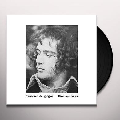Francesco De Gregori ALICE NON LO SA Vinyl Record
