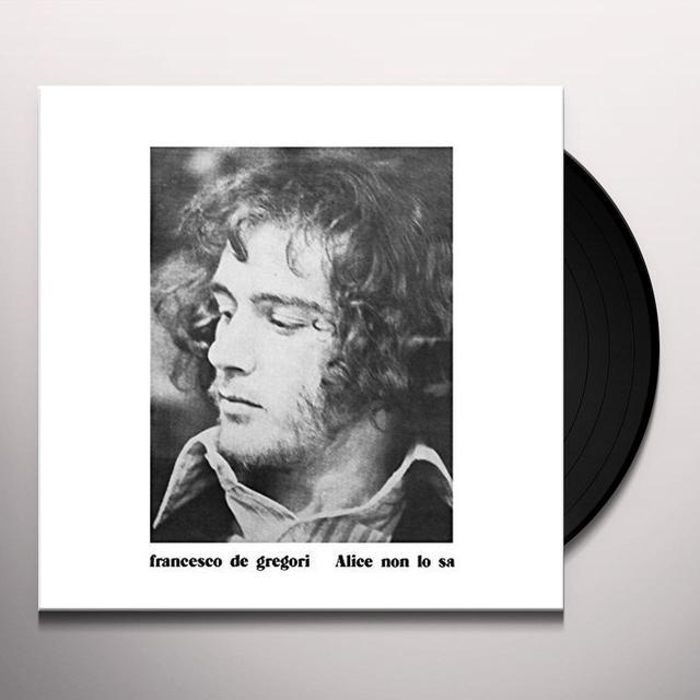 Francesco De Gregori ALICE NON LO SA Vinyl Record - Italy Import