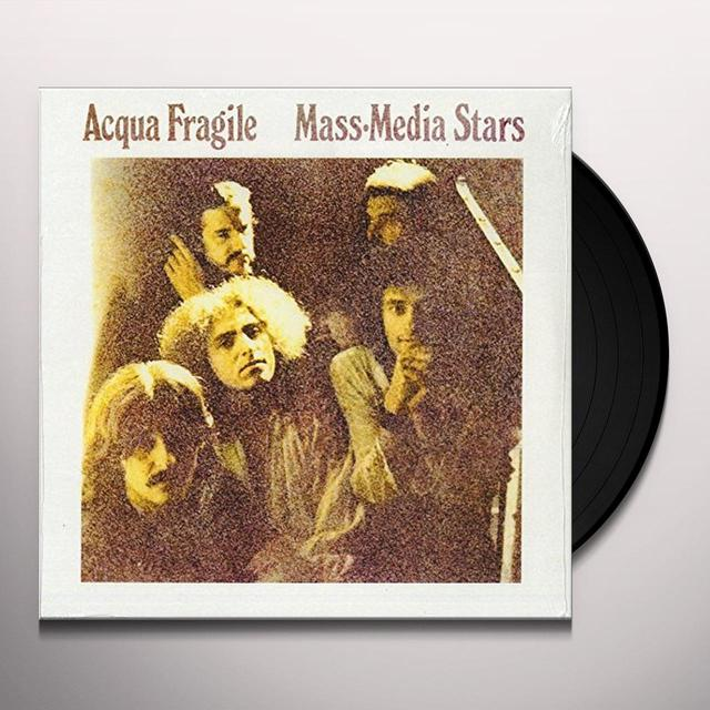 Acqua Fragile MASS MEDIA STARS Vinyl Record - Italy Import
