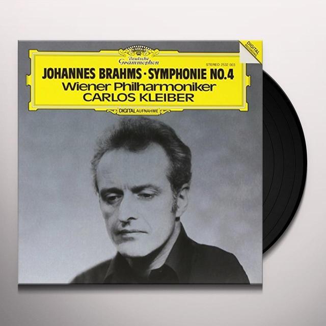 BRAHMS / KLEIBER / WIENER PHILHARMONIKER BRAHMS: SYMPHONY NO 4 Vinyl Record - 180 Gram Pressing