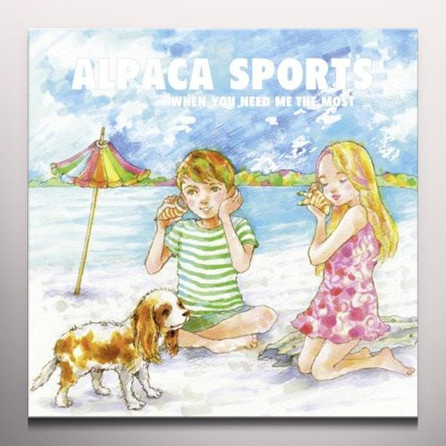 Alpaca Sports WHEN YOU NEED ME THE MOST Vinyl Record - 10 Inch Single, Blue Vinyl, Limited Edition