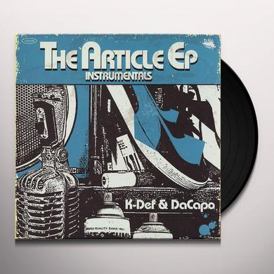 K-DEF & DACAPO ARTICLE / INSTRUMENTALS Vinyl Record