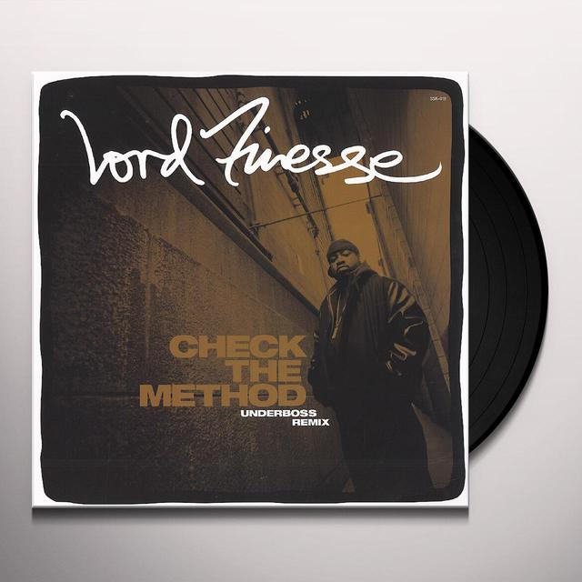 Lord Finesse CHECK THE METHOD (UNDERBOSS REMIX) Vinyl Record