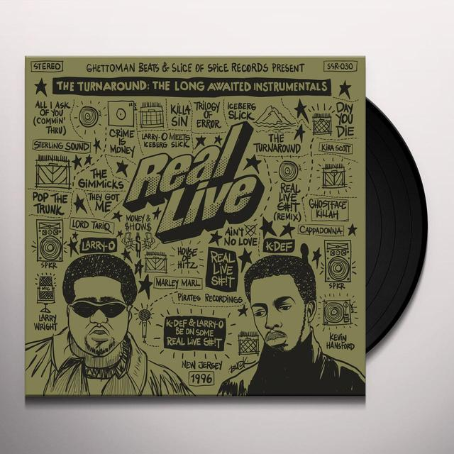 Real Live TURNAROUND: LONG AWAITED INSTRUMENTALS Vinyl Record