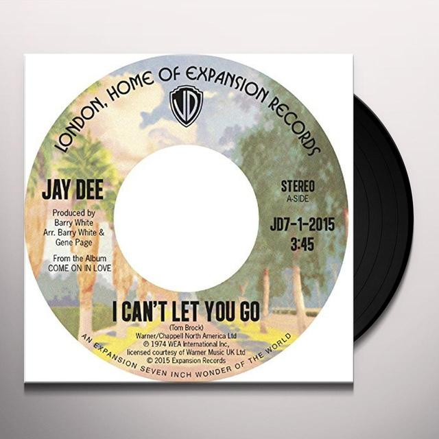 Jay Dee I CAN'T LET YOU GO / COME ON IN LOVE Vinyl Record - UK Import